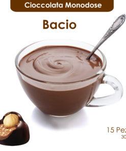 Cioccolata calda monodose al bacio