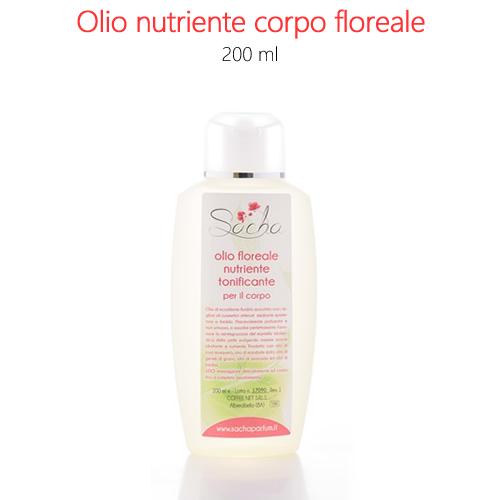 Olio nutriente corpo floreale